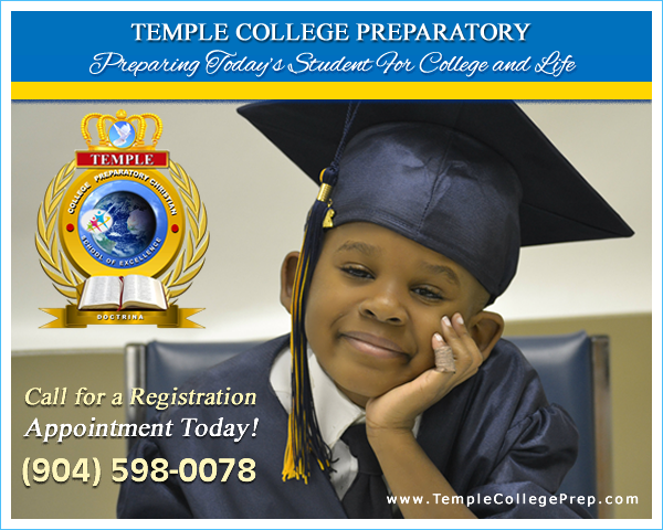 Call Temple College Prep for a registration appointment today! (904) 598-0078